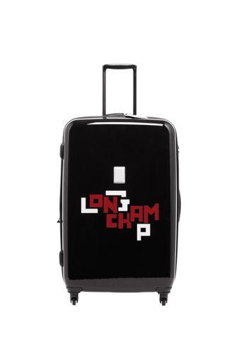 Longchamp Le pliage cuir lgp Sac de voyage à roulettes Noir