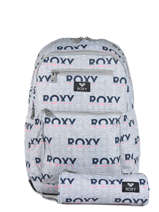 Backpack With Free Pencil Case Roxy Gray back to school RJBP3952