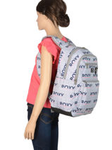 Backpack With Free Pencil Case Roxy Gray back to school RJBP3952-vue-porte