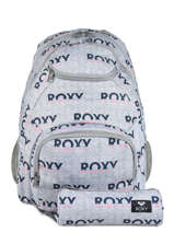 Backpack Shadow With Matching Pencil Case Roxy Gray back to school RJBP3953