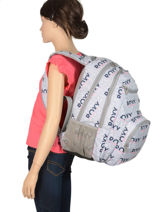 Sac à Dos Shadow Avec Trousse Offerte Roxy Gris back to school RJBP3953-vue-porte