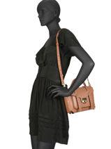 Shoulder Bag Manhattan Leather Michael kors Brown manhattan T9GNCS6L-vue-porte
