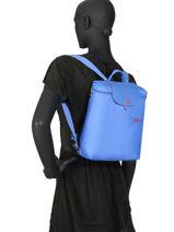 Longchamp Le pliage club Sac à dos Bleu-vue-porte