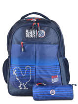 Backpack 2 Compartments With Free Pencil Case Allez les bleus Blue world cup ALB12109