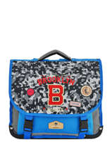 Satchel 2 Compartments Pol fox Blue garcon G-CA38