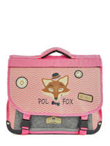 Satchel 2 Compartments Reversible Pol fox Pink fille F-CA38R