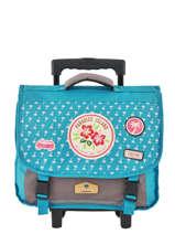 Wheeled Schoolbag 2 Compartments Pol fox Blue fille F-TRCA38