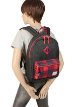 Sac à Dos 1 Compartiment Herschel Noir youth 10312-vue-porte