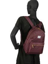 Backpack 1 Compartment Herschel Red classics woman 10502-vue-porte