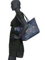 Shoulder Bag A4 L.12.12 Concept Fantaisie Lacoste Black l.12.12 concept fantaisie NF2998CF-vue-porte