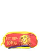 Trousse 2 Compartiments Le roi lion Rouge king ROINI00-vue-porte