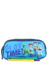 Trousse 2 Compartiments Toy story Bleu playtime TOYNI00-vue-porte
