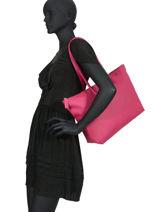 Shoulder Bag L.12.12 Concept Lacoste Pink l.12.12 concept NF1888PO-vue-porte