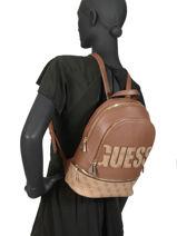 Backpack Skye Guess Brown skye SG741133-vue-porte