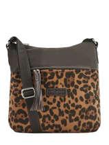Shoulder Bag Basic Pompom Lancaster Brown basic pompom 514-37