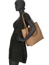 Sac Shopping Foulonne Double Cuir Lancaster Marron foulonne double 470-21-vue-porte