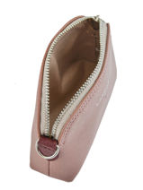 Purse Leather Lancaster Pink pur saffiano 121-25-vue-porte