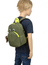 Sac A Dos Mini Kipling Vert back to school 253-vue-porte