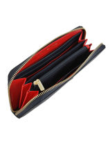 Wallet Tommy hilfiger Blue modern adware AW07063-vue-porte
