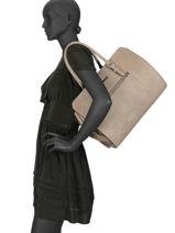 Shoulder Bag A4 Gallantry Gray M9349-vue-porte
