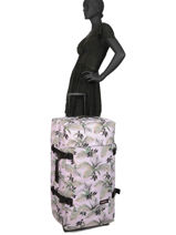 Softside Luggage Authentic Luggage Eastpak Pink authentic luggage K63L-vue-porte