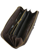 Leather Wallet Natte Etrier Brown natte ENTT91-vue-porte
