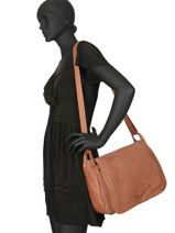Crossbody Bag Cow Leather Basilic pepper Brown cow BCOW16-vue-porte