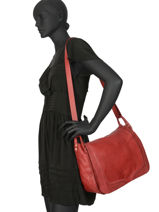 Shoulder Bag Cow Leather Basilic pepper Red cow BCOW16-vue-porte