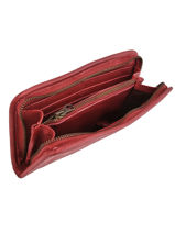 Wallet Leather Basilic pepper Red cow BCOW91-vue-porte