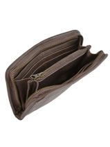 Wallet Leather Basilic pepper Brown cow BCOW91-vue-porte