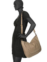 Shoulder Bag Studs Leather Basilic pepper Gray studs BSTU02-vue-porte