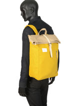 Backpack Dante Sandqvist Black ground DANTE-vue-porte