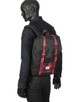 Backpack Herschel Black youth 10248-vue-porte