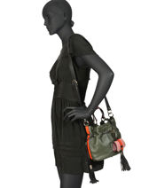 Small Bucket Bag Premier Flirt Lancel Multicolor premier flirt A10294-vue-porte