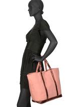 Le Cabas Moyen+ Paillettes Vanessa bruno Rose cabas 1V40414-vue-porte