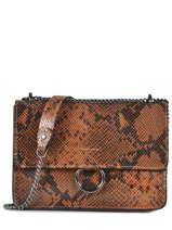 Shoulder Bag Python Milano Brown python PI180602