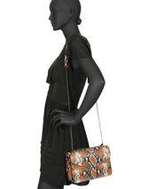 Shoulder Bag Python Milano Brown python PI19061-vue-porte
