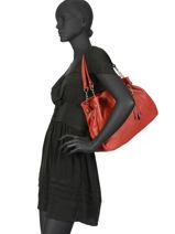 Shopper  Leather Milano Red 183-vue-porte