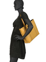 Shoulder Bag A4  Leather Milano Yellow CA18116-vue-porte