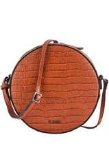 Large Shoulder Bag Darwin Leather Etrier Red darwin EDAR07