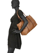 Shopper Authentic Bonded Leather Torrow Brown authentic TAUT01-vue-porte