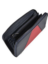 Wallet Leather Etrier Blue escarpe EESC91-vue-porte