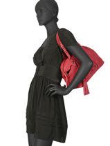Sac Shopping Velvet Torrow Rouge velvet TVEL01-vue-porte