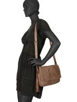 Shoulder Bag Velvet Torrow Beige velvet TVEL02-vue-porte