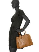 Top Handle  Leather Milano Brown CR16062-vue-porte