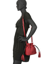 Small Bucket Bag Wellington Leather Etrier Black wellington EWEL02-vue-porte