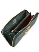 Leather Romane Wallet Lancel Green romane A10077-vue-porte