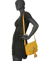 Shoulder Bag Simons Fuchsia Yellow simons F9838-2-vue-porte