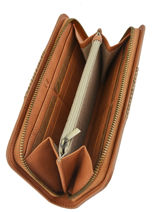 Wallet Woomen Brown abelia WABEL91-vue-porte