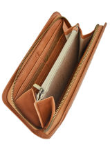 Wallet Woomen Brown orchidee WORCH91-vue-porte